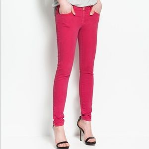 ✨ ZARA Pink Vintage Ankle Zipper Skinny Jeans✨